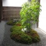 Jardin de cour intérieure de Machiya