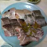 Nabe de dorade et sashimi