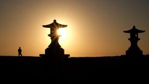 Lever du soleil sur l'île d'Aoshima
